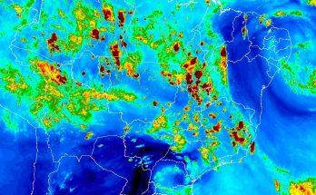 Mapa climático do Inmet na quarta-feira (20); expectativa é de tempo instável no Estado nesta quinta-feira. (Foto: Inmet)