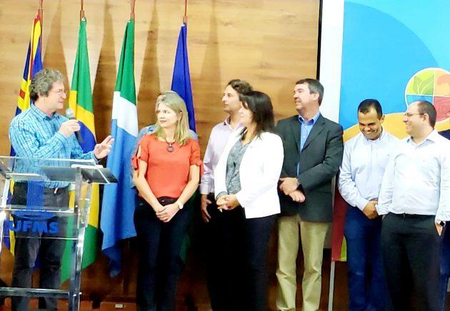 Ildeu de Castro Moreira, da SBPC, em discurso no lançamento da 71ª Reunião da entidade, que acontece em julho em Campo Grande