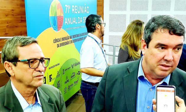 Secretário Eduardo Riedel, em entrevista no lançamento da 71ª Reunião da SBPC, reforça preocupação do governo estadual com a Ciência e Tecnologia