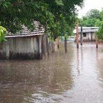 Cheia do rio Apa fez três municípios decretarem emergência. (Foto: Cedec/Divulgação)