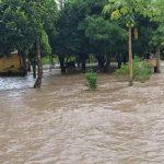 Rio Apa causou inundação em regiões de três municípios. (Foto: Cedec/Divulgação)