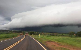 Eldorado, no Sul do Estado, também deve enfrentar tempo fechado. (Foto: Coclimet/O Eldoradense/Reprodução)