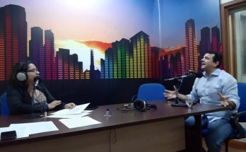 Marcelo Karmouche concedeu entrevista à jornalista Daniela Benante no Bom Dia Campo Grande. (Foto: Humberto Marques)