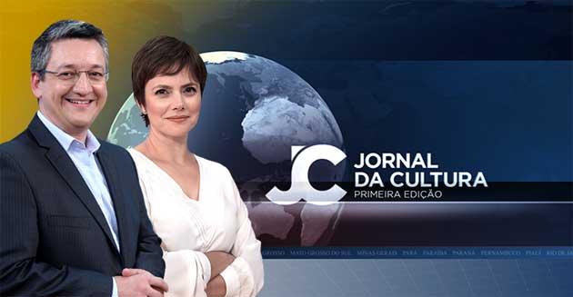Aldo Quiroga e Ana Paula Couto comandam o Jornal da Cultura 1ª Edição. (Imagem: TV Cultura/Divulgação)