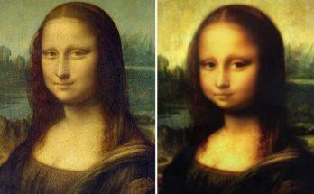 Filtro do Snapchat transforma rostos de adultos em crianças, até a Monalisa entrou na brincadeira. (Foto: Snapchat/Divulgação)