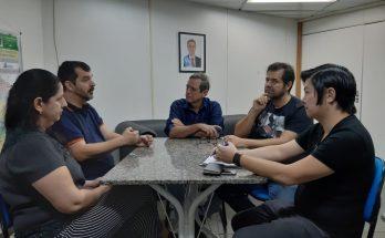 Reunião nesta quinta-feira (2) tratou de detalhes do edital a ser lançado em breve para fomento ao audiovisual no Estado. (Foto: Humberto Marques)