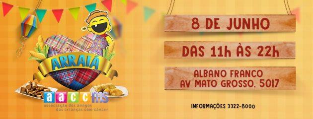 Arraiá da AACC acontece neste sábado (8), das 11h às 22h, no Centro de Convenções Albano Franco. (Imagem: Divulgação)