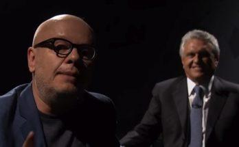 Caiado (ao fundo) é o entrevistado de Marcelo Tas no #Provocações desta terça. (Foto: Reprodução)
