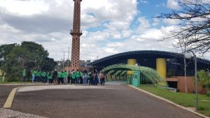 Torre da TVE, uma das maiores em alvenaria da América Latina, é uma das atrações turísticas de Campo Grande. (Foto: Arquivo)