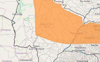 Mapa do Inmet mostra regiões do Estado onde umidade do ar pode baixar a 12% nesta segunda-feira. (Imagem: Reprodução)
