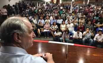 Ciro Gomes em evento do PDT na sexta-feira, em Campo Grande. (Foto: Divulgação)