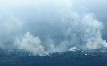 Pantanal na região do Porto da Manga, em Corumbá; ventos aumentam risco de incêndios em MS. (Foto: Edemir Rodrigues/Subcom)