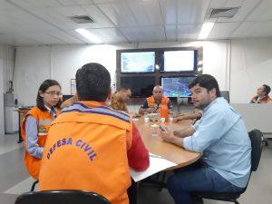 Coordenadoria Estadual de Defesa Civil reuniu demais órgãos de monitoramento das condições climáticas em torno da criação de Sala de Situação. (Foto: Humberto Marques)
