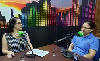 Claire Miozzo (à direita) falou ao Bom Dia Campo Grande sobre ações do Setembro Verde. (Foto: Iasmin Biolo/Fertel)