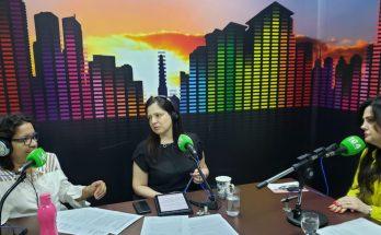 Da esquerda para a direita: as jornalistas Daniela Benante e Maristela Cantadori e a presidente do PSDB Mulher e da FCMS, Mara Caseiro. (Foto: Iasmin Biolo/Fertel)