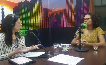 Márcia Paulino (à direita) falou ao Bom Dia Campo Grande sobre os impactos, diretos e indiretos, da violência contra a mulher na família. (Foto: Pedro Amaral/Fertel)