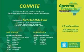 Governo Presente realizará sua segunda edição no Centro-Norte. (Imagem: Reprodução)