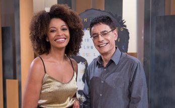 Adriana Couto e Cunha Jr. comandm o Metrópolis, que vai ao ar de terça a quinta-feira, aos domingos e noites de segunda-feira na TVE Cultura. (Foto: Divulgação)