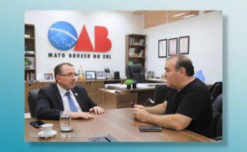 Mansour Karmouche (à esquerda) concedeu entrevista a Zé Du que vai ao ar no Nossa Música É Assim deste sábado. (Foto: Gerson Walber/OAB-MS/Reprodução)