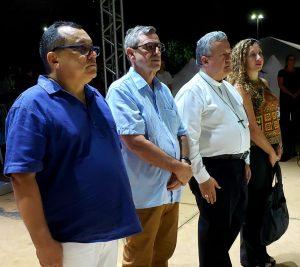 Orivaldo Mengual, Bosco Martins, Dom Dimas Lara Barbosa e Soraia Teixeira (FCMS). (Foto: Pedro Amaral/Fertel)