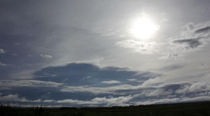 Estado ainda deve registrar pancadas de chuva ao longo da segunda-feira, mas tendência é de céu permanecer entre nublado e parcialmente nublado. (Foto: Subcom)