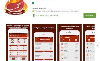 Go! Churrasco é uma das opções gratuitas para ajudar na organização do churrasco. (Imagem: Reprodução)