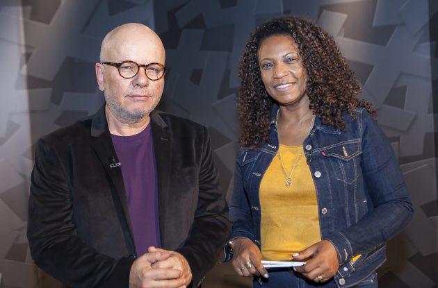 Eliane Dias fala a Marcelo Tas no #Provocações sobre a presença feminina em um cenário como o rap brasileiro, que é dominado por homens. (Foto: TV Cultura/Divulgação)
